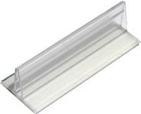 Clear Plastic Adhesive Rider Sign Holders - 6 per bag